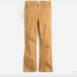 """J. Crew 9"""" Billie Demi Boot Crop Honey Brown Pant"""
